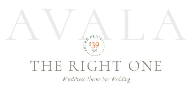 Avala - Thème WordPress de mariage - 3