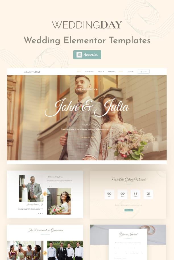 WeddingDay Elementor template