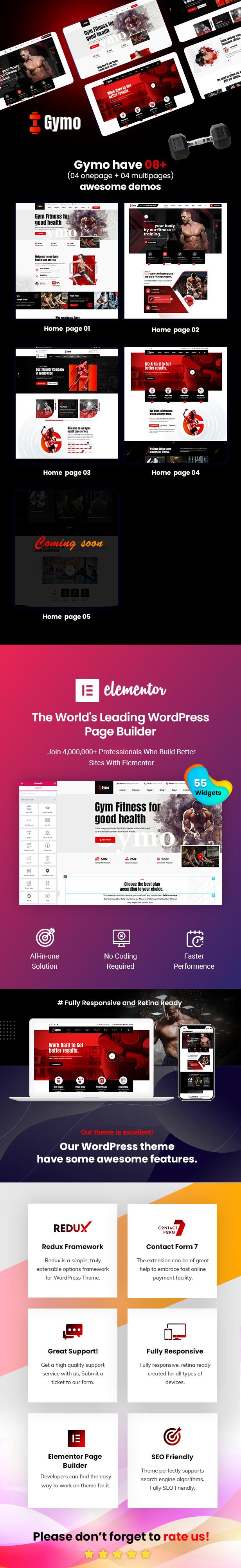 Gymo - Thème WordPress Gym & Fitness