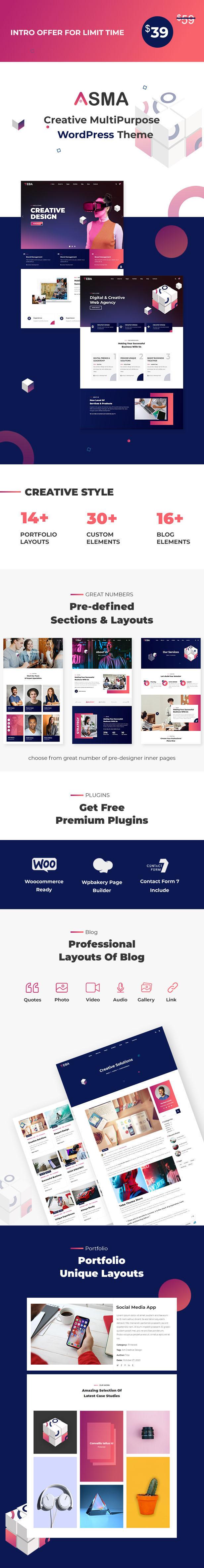Asma - Thème WordPress pour Agence Créative - 1