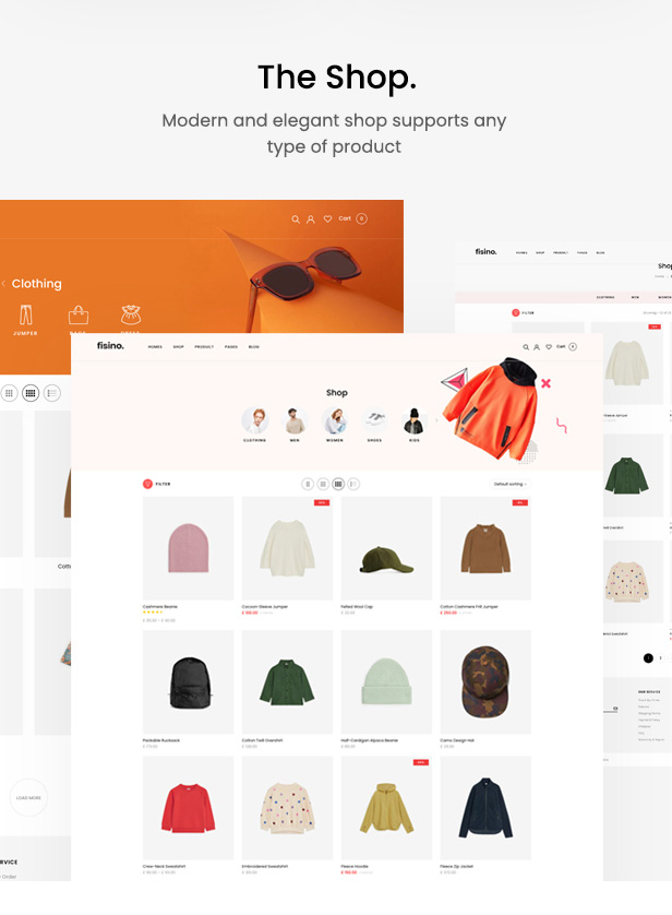 Fisino - Thème WordPress Mode WooCommerce - 4