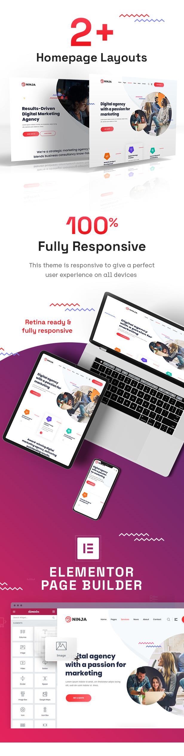 Ninja - Thème WordPress pour le référencement et le marketing numérique - 2