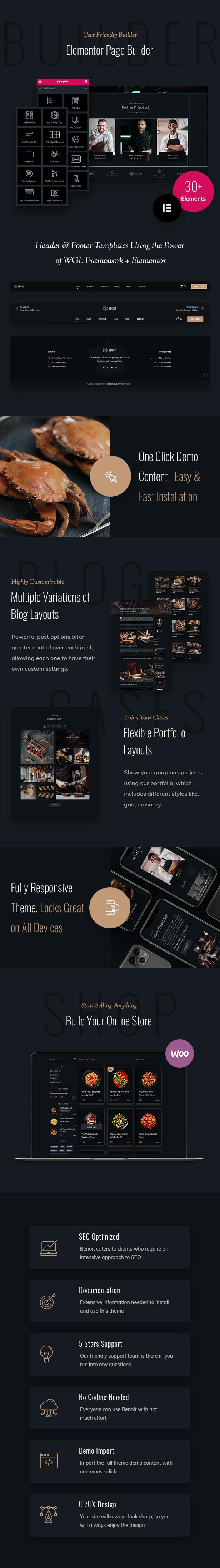 Benoit - Thème WordPress pour restaurants et cafés - 2
