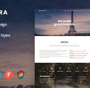 Angora – Modèle de parallaxe réactif d'une page