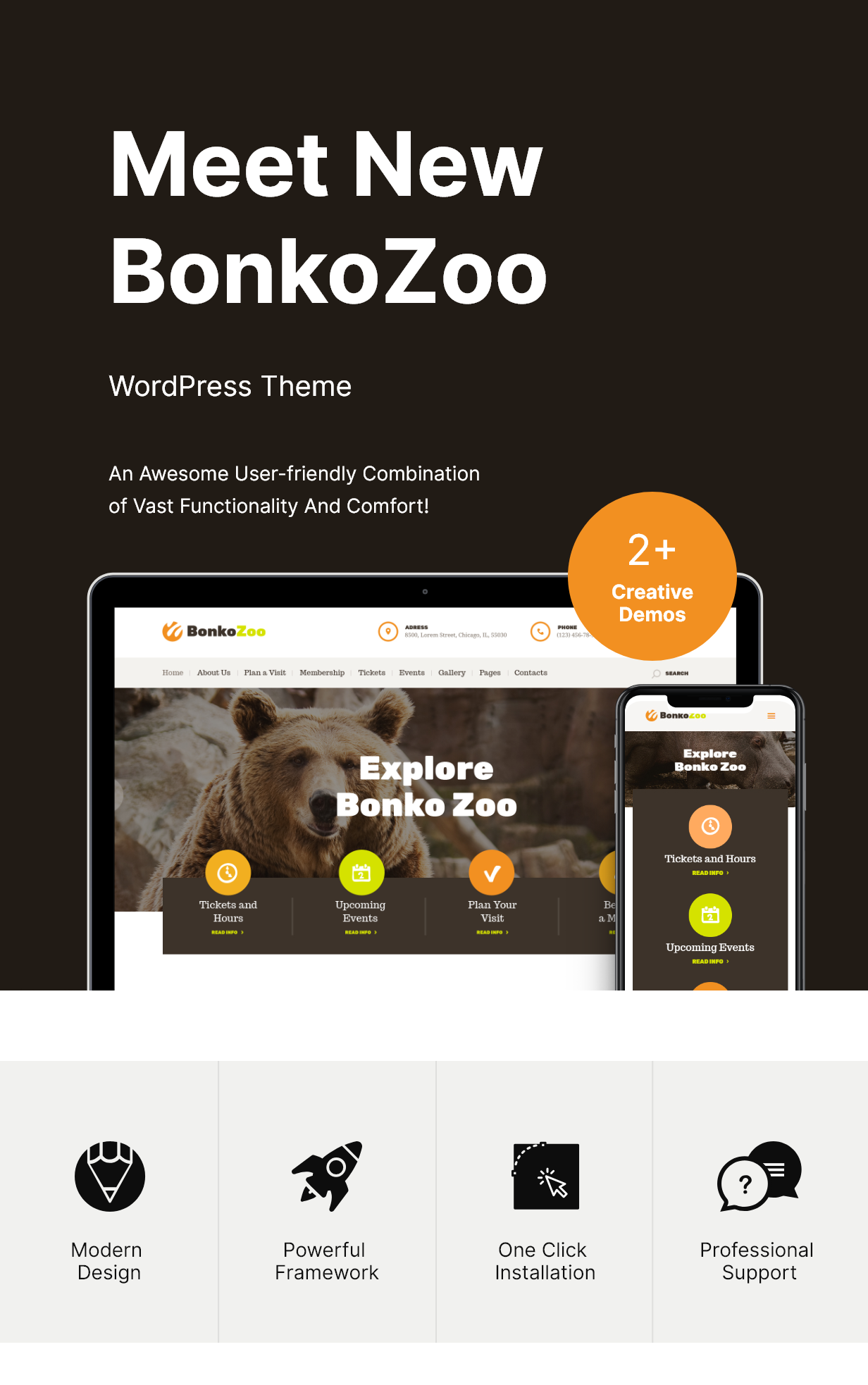 Bonko | Thème WordPress Safari & Zoo - 1