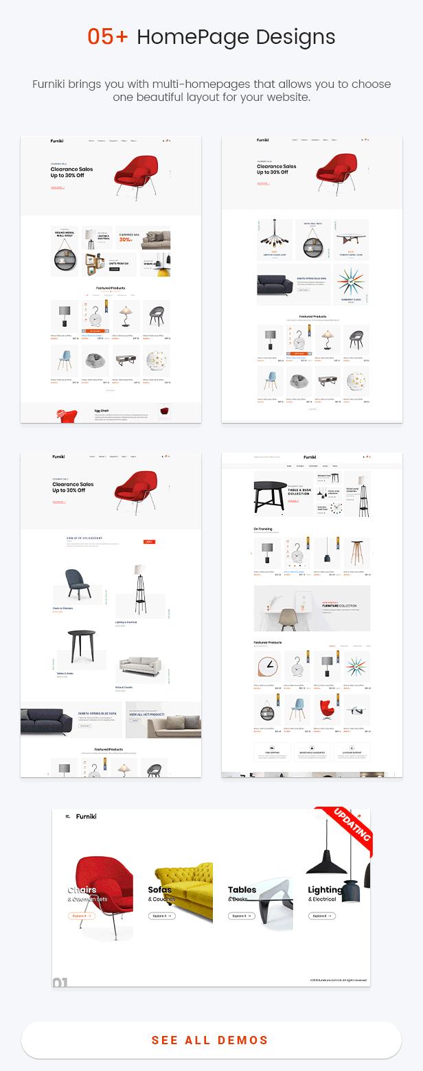Furniki - Thème WordPress pour la décoration d'intérieur et l'ameublement