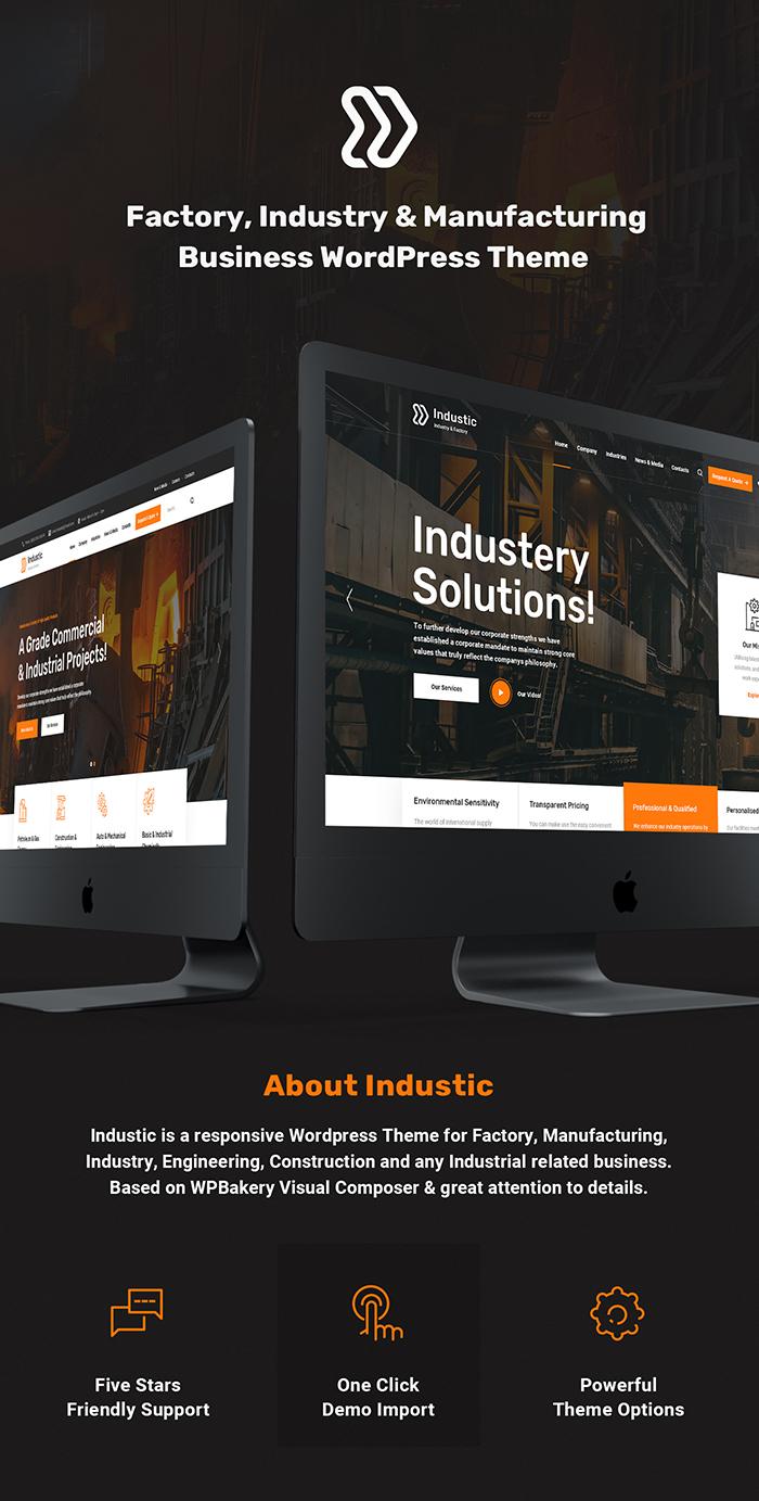 Industic - Thèmes WordPress pour l'usine et la production - 1