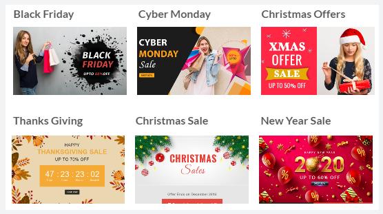 Modèle d'email de Noël