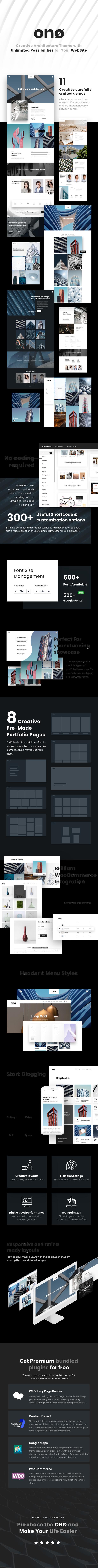 ONO - Thème WordPress Architecture - 1