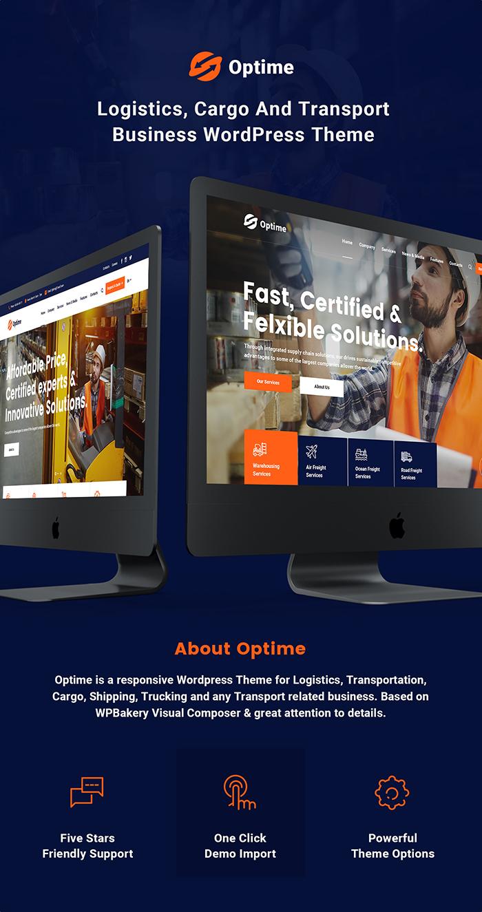 Optime - Thèmes WordPress pour la logistique et le transport - 4