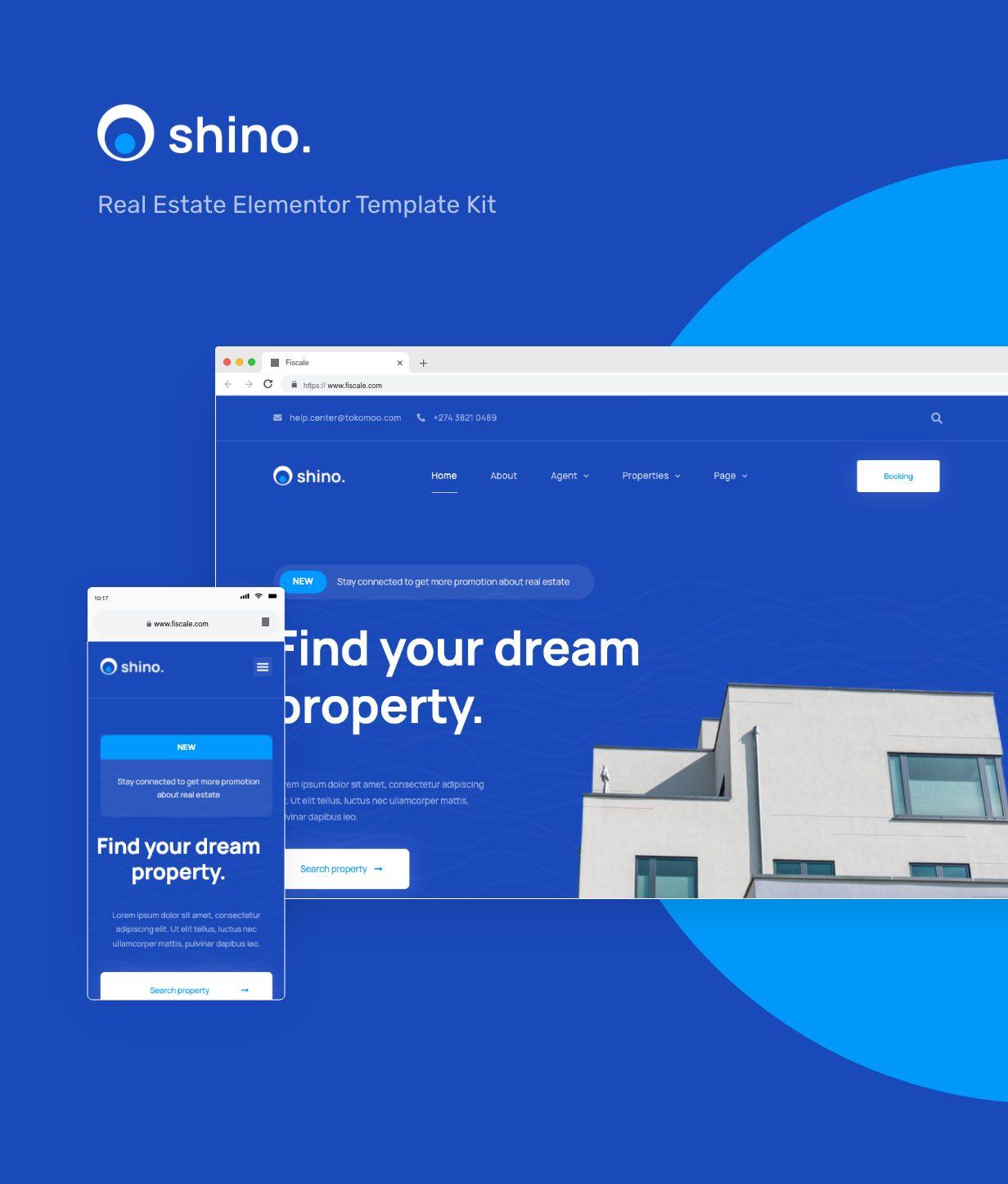 Shino   Kit de modèles Elementor immobilier - 1