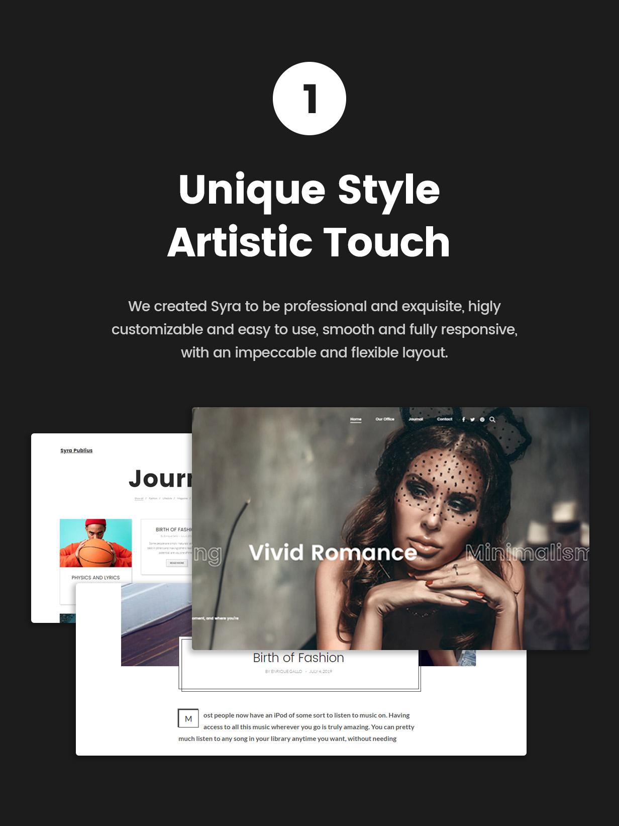 Syra - Un thème WordPress portefeuille minimal vitrine - 1