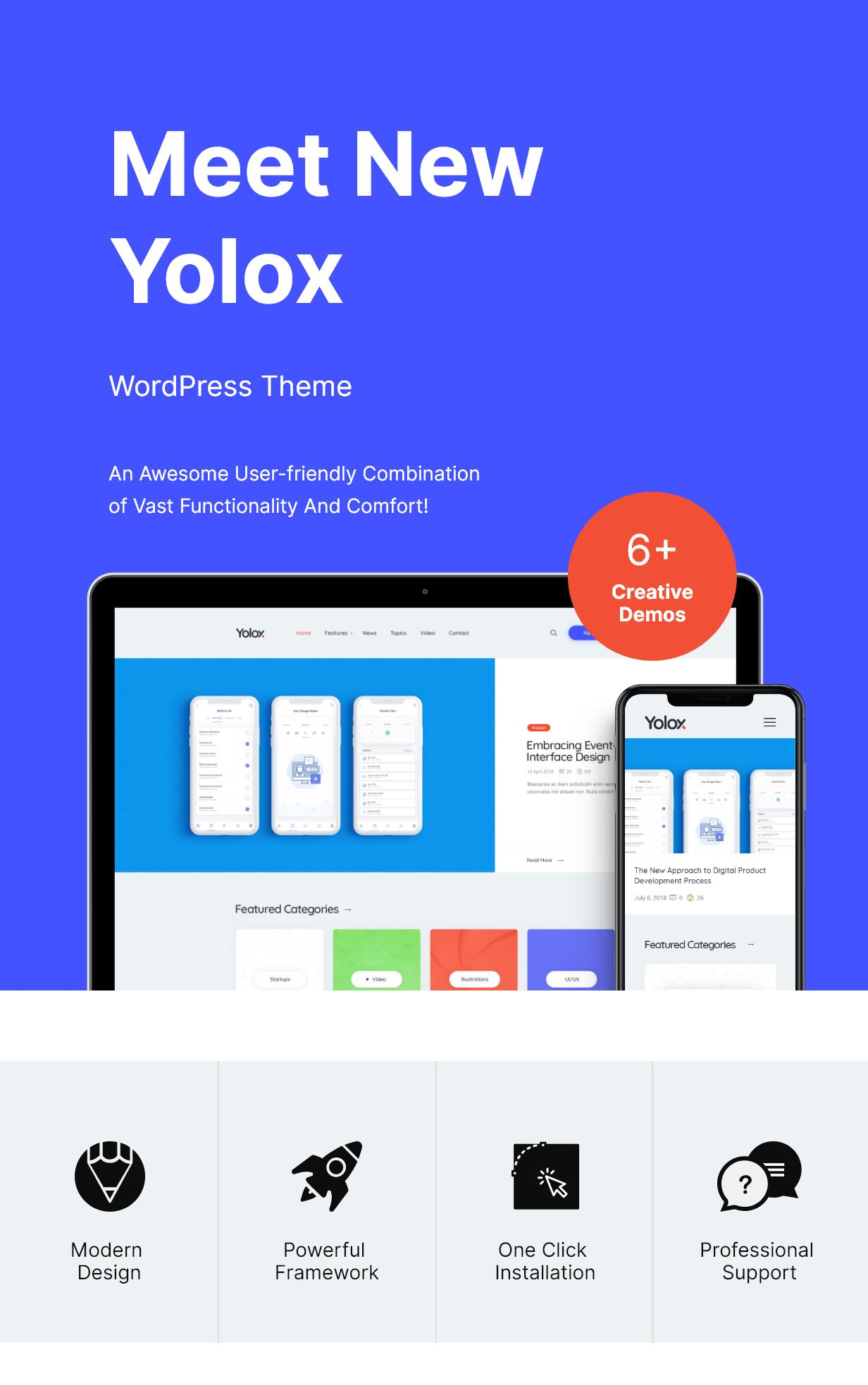 Yolox | Thème WordPress Blog moderne pour les entreprises et la mise en route - 1