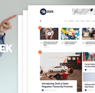 Zeek: un thème propre pour les blogs / magazines WordPress