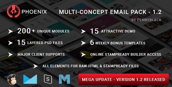 Corp - Modèle de courrier électronique réactif polyvalent avec StampSteady Builder et Mailchimp Editor en ligne - 1
