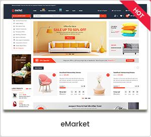 eMarket - Thème WordPress pour WooCommerce de commerce électronique et marché polyvalent