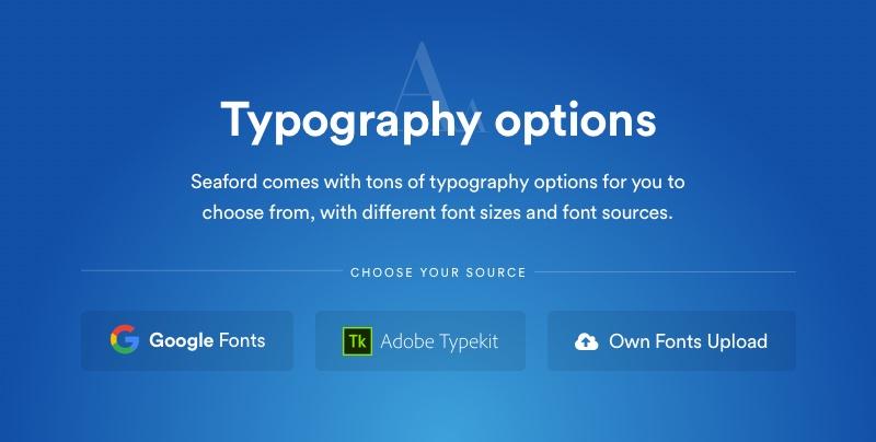 Options de typographie Yani