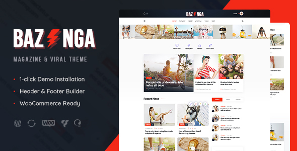 Bazinga Theme Pour Blog Et Du Blog Wordpress Themedivision