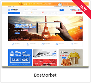 BosMarket - Thème WordPress multi-vendeurs flexible