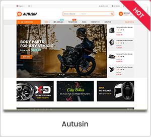 Autusin - Pièces détachées auto et Accessoires Achetez un thème WordPress WooCommerce