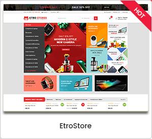 EtroStore - Magasin d'électronique Thème WordPress WooCommerce