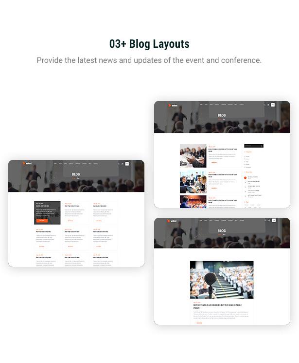 Vetex - thèmes WordPress pour événements et conférences