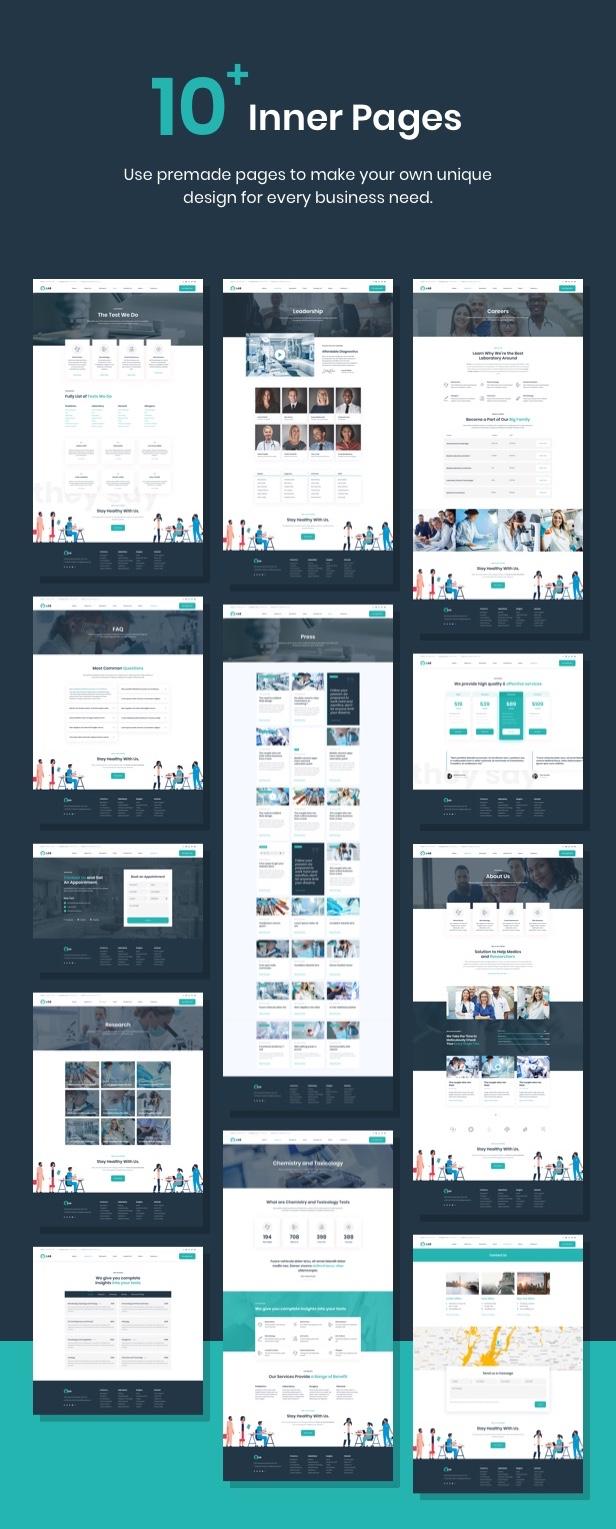 Ninedok - Thème WordPress Laboratoire et Recherche - 2
