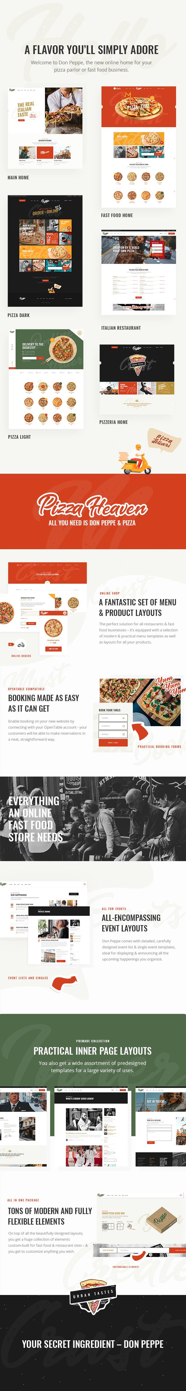 Don Peppe - Thème pizza et restauration rapide - 1