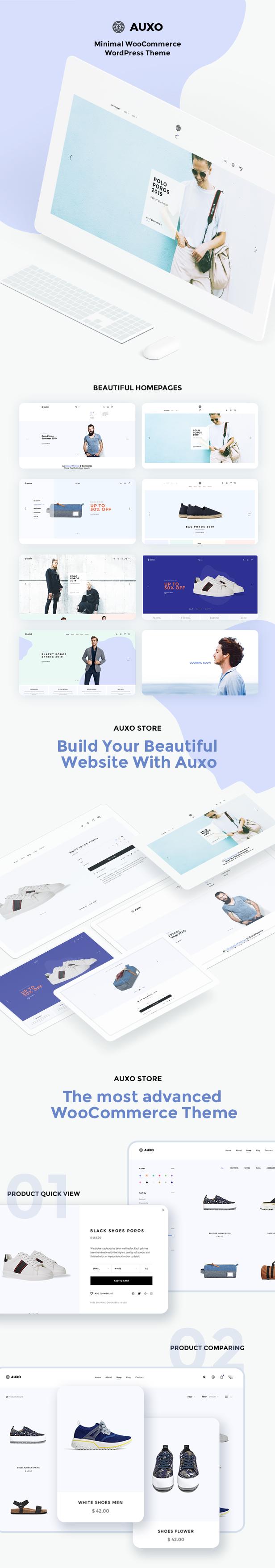 Auxo - Minial WooCommerce Shopping Thème WordPress - 9