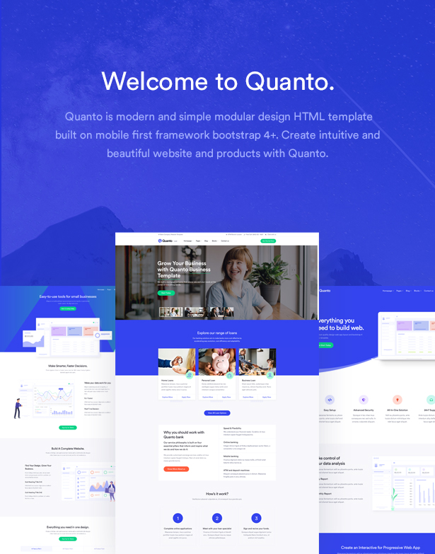 quanto creative polyvalent responsive html template