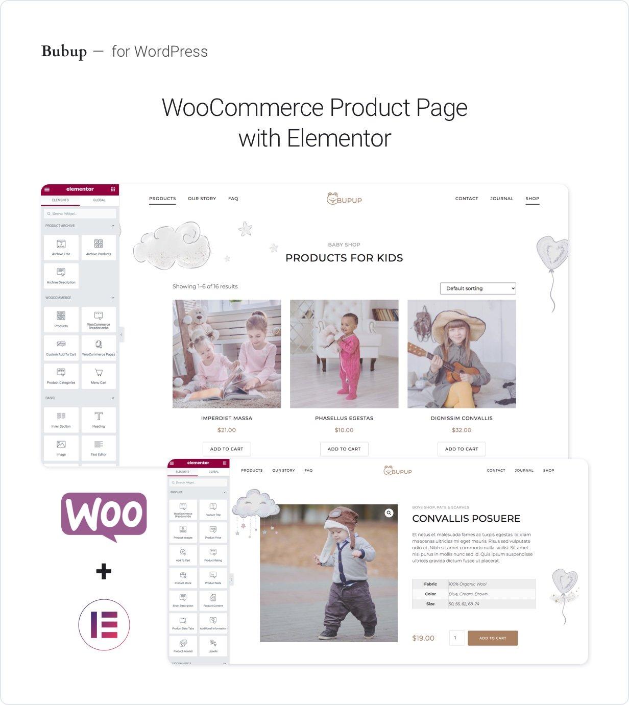 Présentation du kit de modèles Bubup Elementor