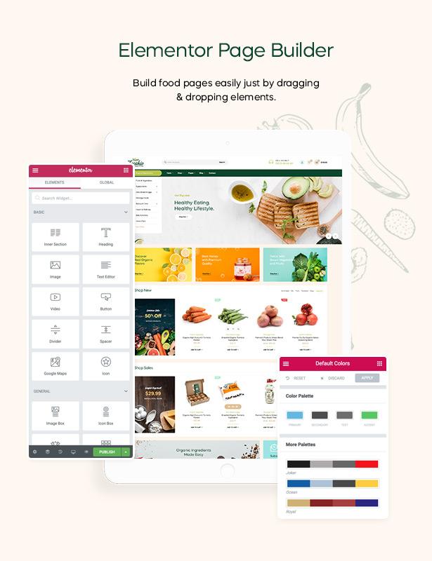 Freshio - Thème WordPress pour magasin bio et alimentaire