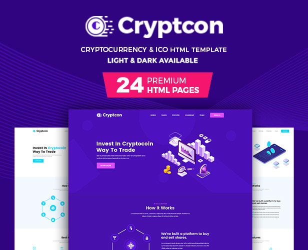 cryptcon - Modèle html ICO, Bitcoin et Crypto Currency