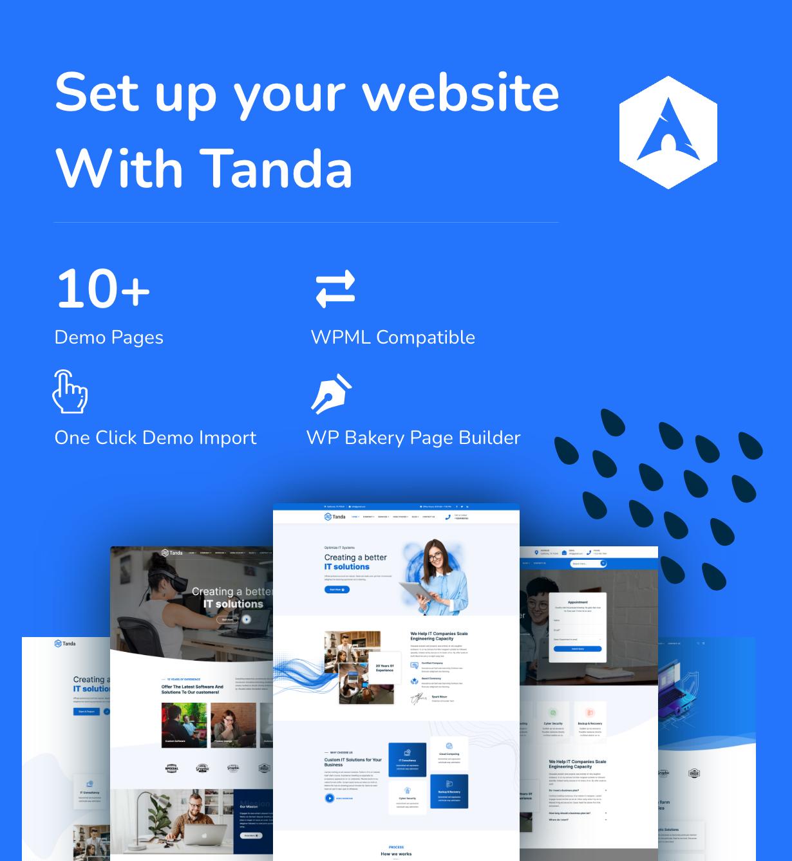 Tanda - Logiciels, technologies et solutions informatiques Thème WordPress 2