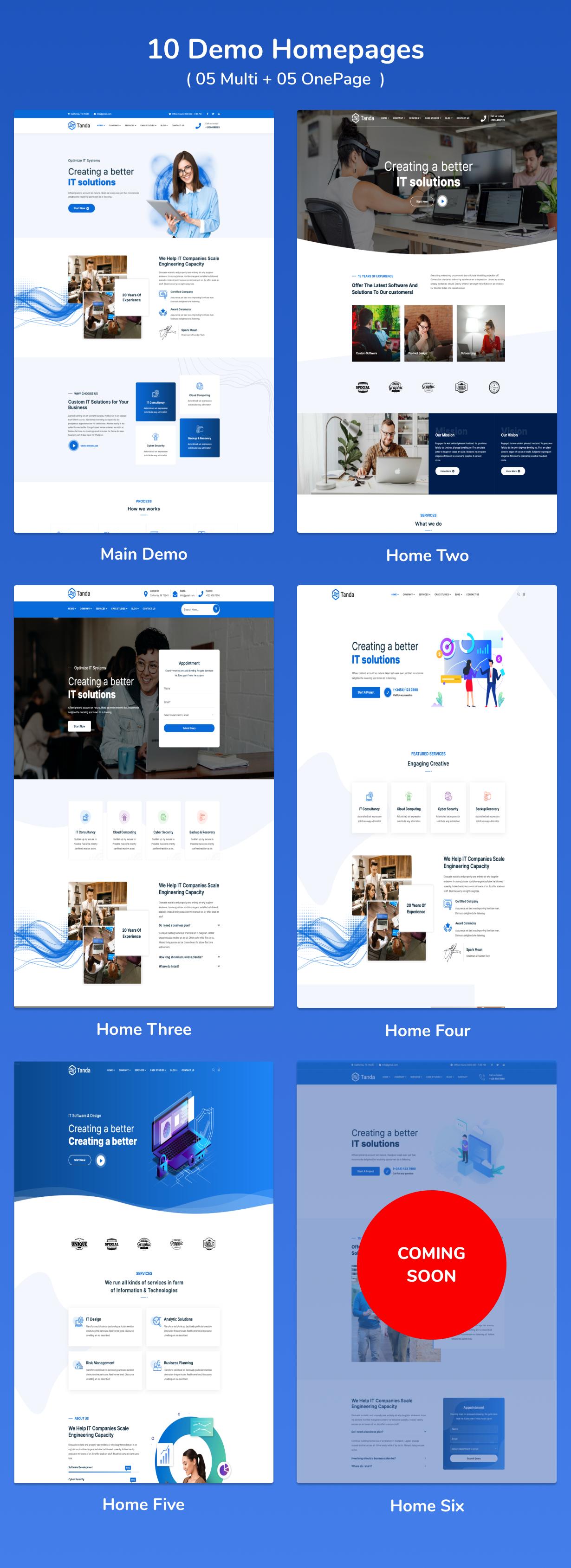 Tanda - Logiciels, technologies et solutions informatiques Thème WordPress 3