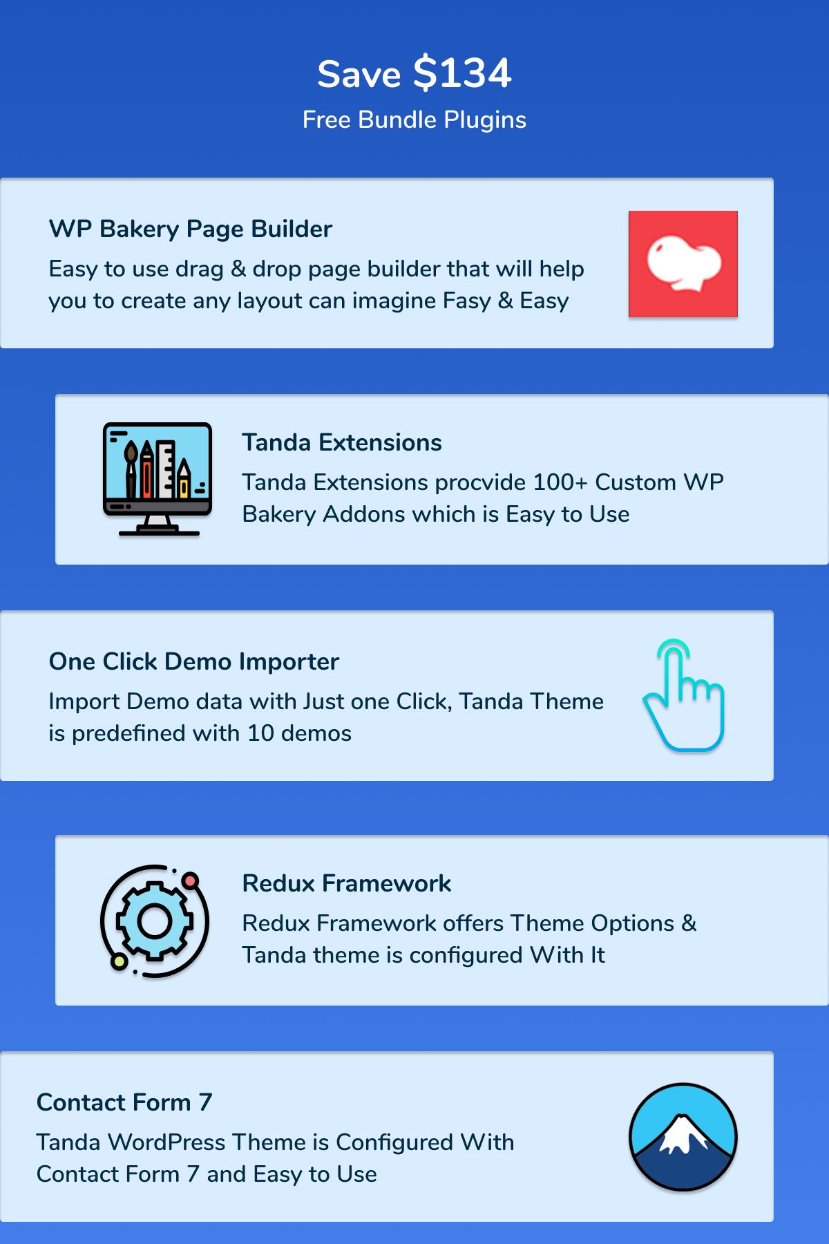 Tanda - Thème WordPress 5 de solutions logicielles, technologiques et informatiques
