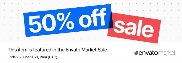 Vente du marché d'Envato