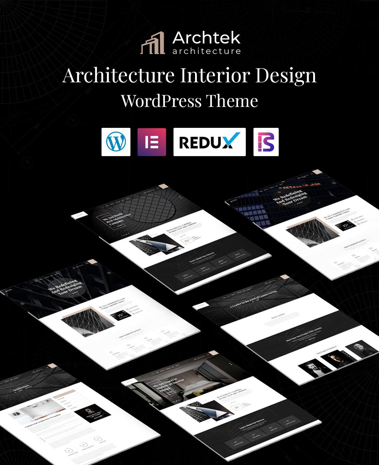 Archtek - Thème WordPress pour la conception intérieure d'architecture