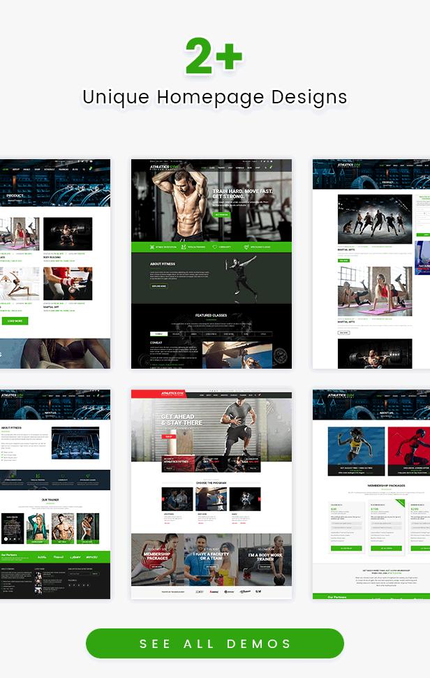 Athetics - Thème WordPress pour le fitness dans les gymnases professionnels
